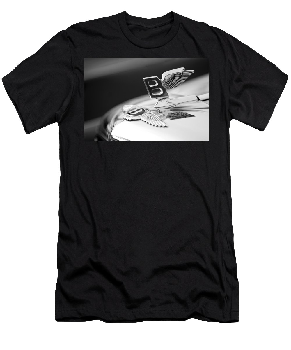 Bentley Hood Ornament Men's T-Shirt (Athletic Fit) featuring the photograph Bentley Hood Ornament by Jill Reger