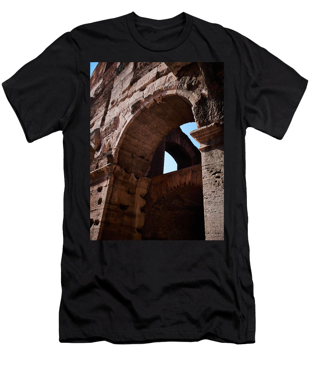 2013. Men's T-Shirt (Athletic Fit) featuring the photograph Colosseum by Jouko Lehto