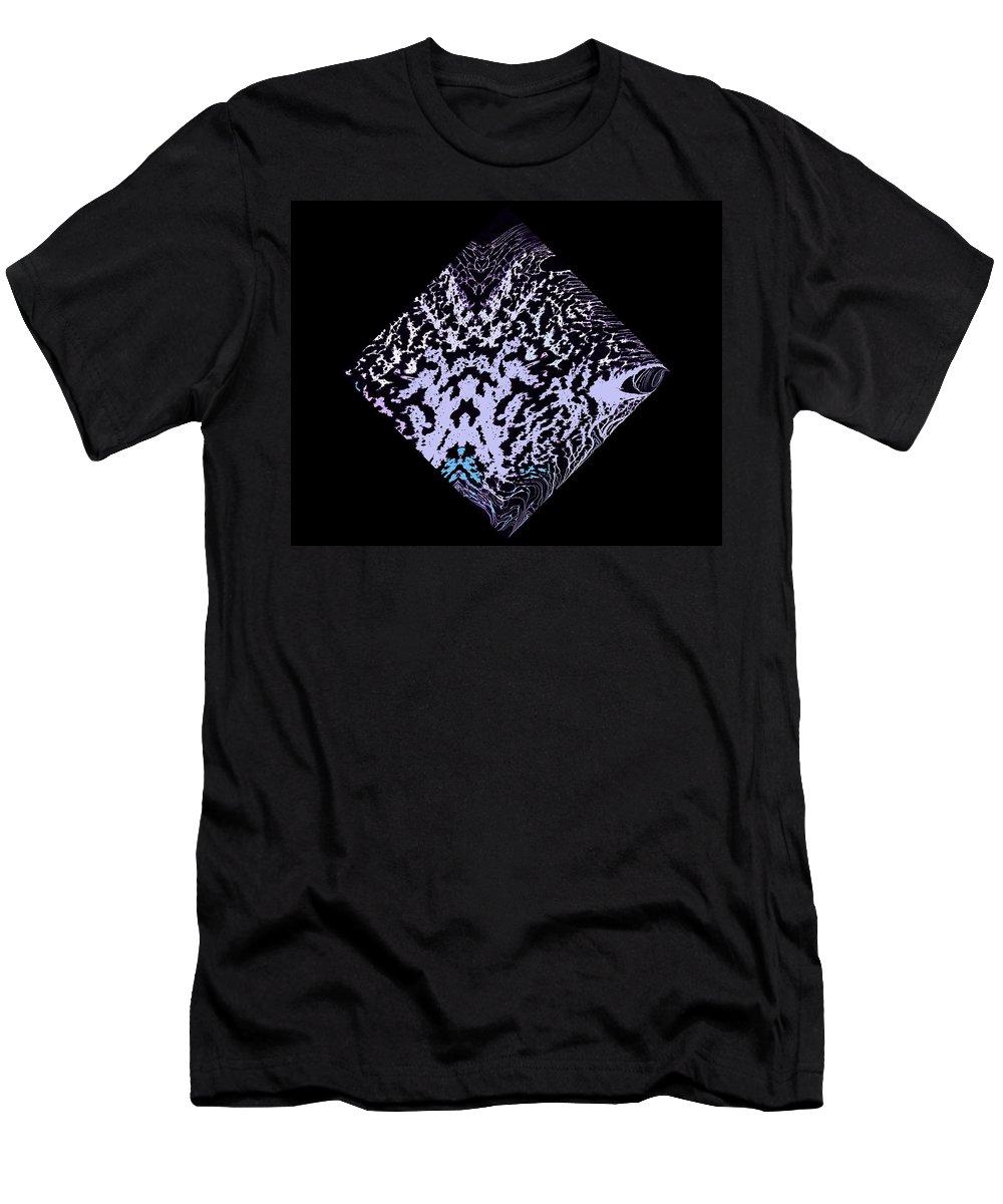 Symmetrical Men's T-Shirt (Athletic Fit) featuring the painting Diamond 100 by J D Owen