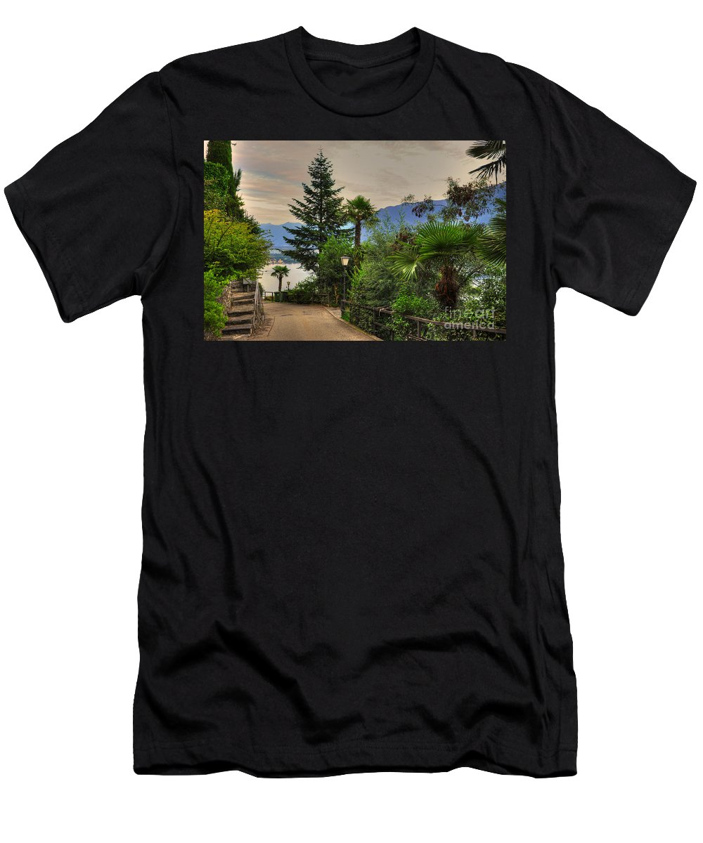 Mountain Road Men's T-Shirt (Athletic Fit) featuring the photograph Mountain Road by Mats Silvan