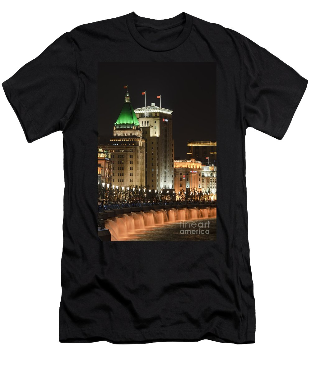 Asia Men's T-Shirt (Athletic Fit) featuring the photograph The Bund, Shanghai by John Shaw