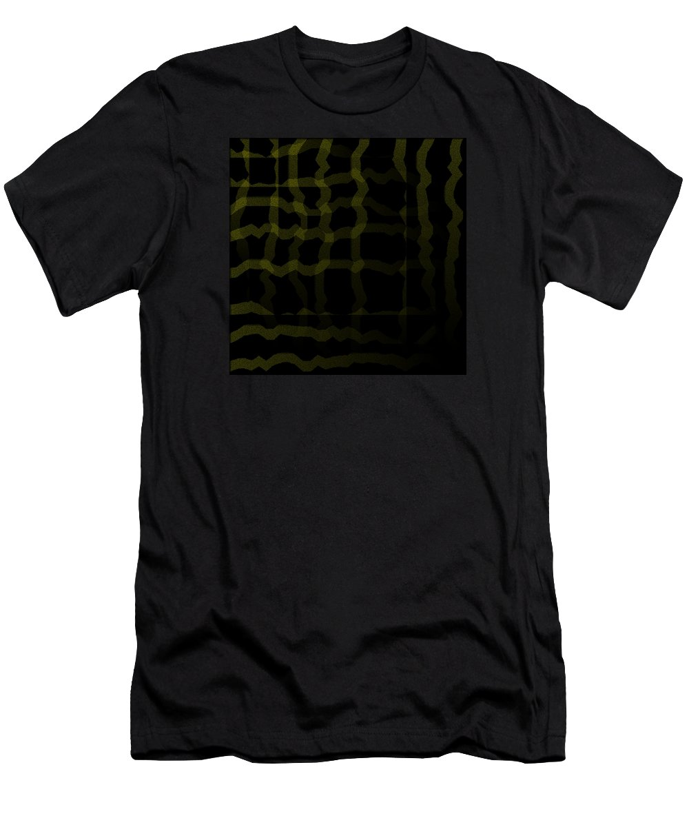 Abstract Men's T-Shirt (Athletic Fit) featuring the digital art 5040.24.18 by Gareth Lewis