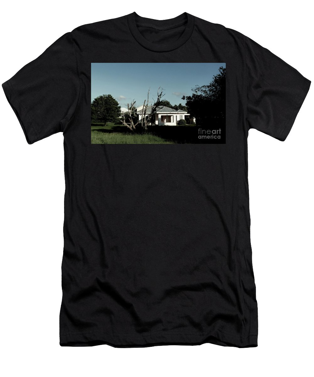 Color Men's T-Shirt (Athletic Fit) featuring the photograph 511 Home by Amar Sheow