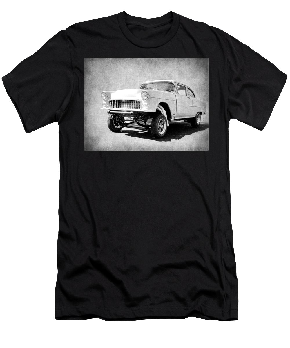 Steve Mckinzie Men's T-Shirt (Athletic Fit) featuring the photograph 55 Gasser Art by Steve McKinzie