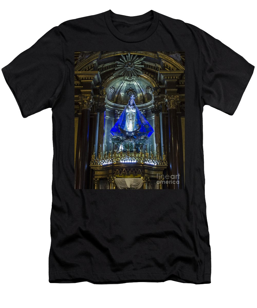 Lima Peru Men's T-Shirt (Athletic Fit) featuring the photograph The Monastery Of San Francisco - Lima Peru by Jon Berghoff