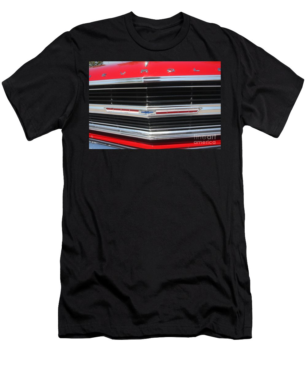 Chevrolet Men's T-Shirt (Athletic Fit) featuring the photograph 65 Malibu Ss 7806 by Gary Gingrich Galleries