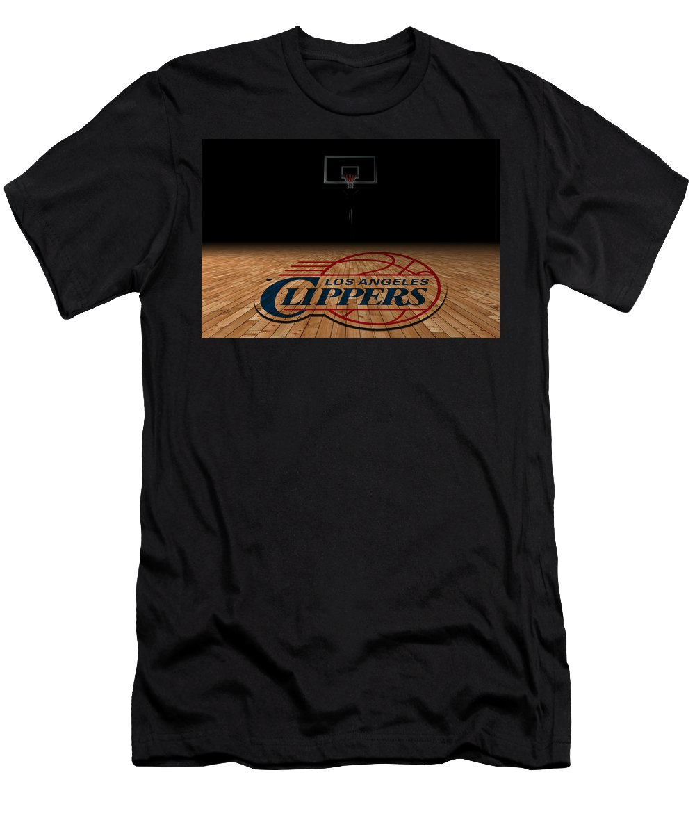 Clippers Men's T-Shirt (Athletic Fit) featuring the photograph Los Angeles Clippers by Joe Hamilton