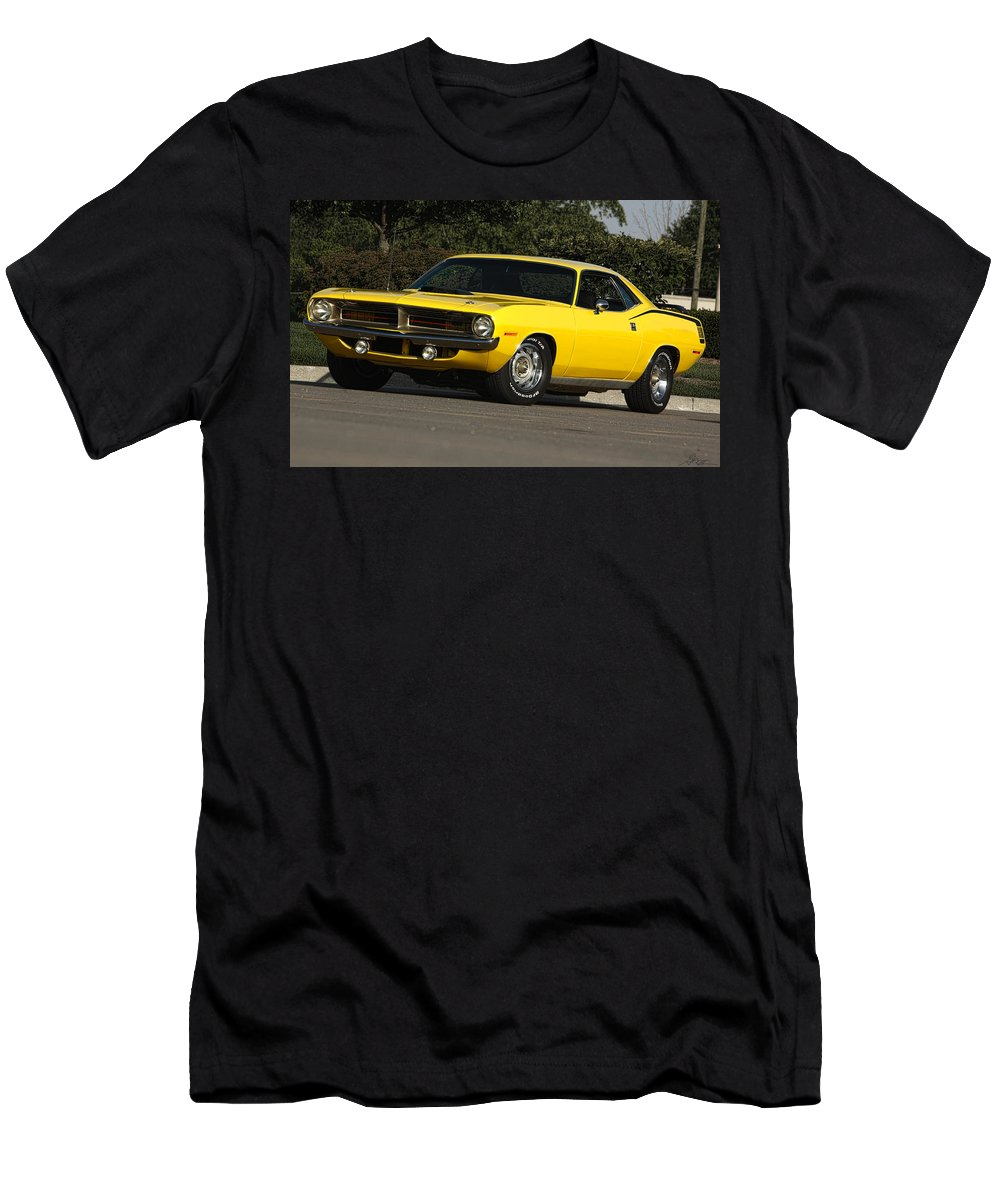 1970 Men's T-Shirt (Athletic Fit) featuring the photograph '70 Hemi 'cuda by Gordon Dean II