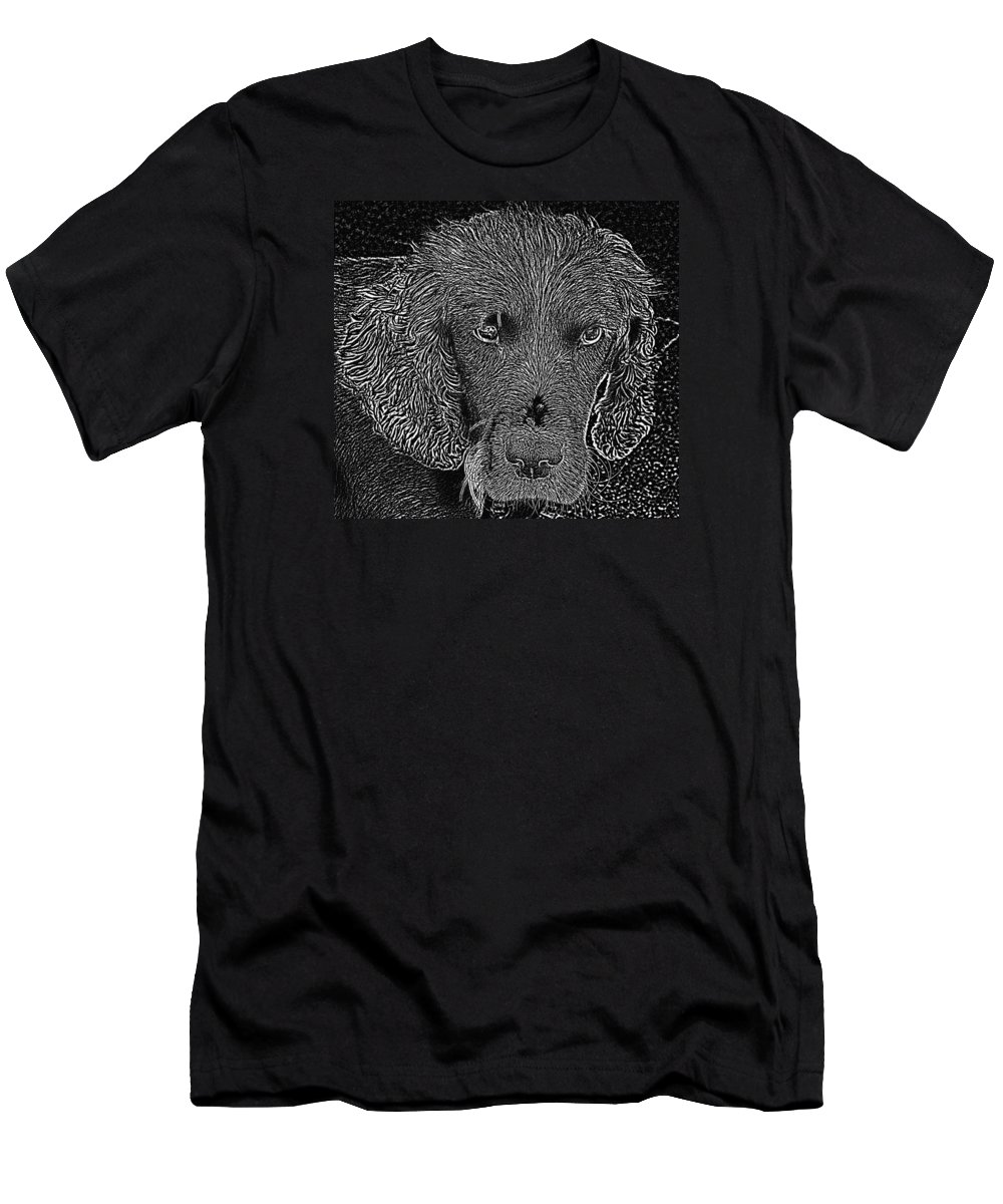 Photographs Of Dogs Men's T-Shirt (Athletic Fit) featuring the photograph Photogenic by Dave Byrne