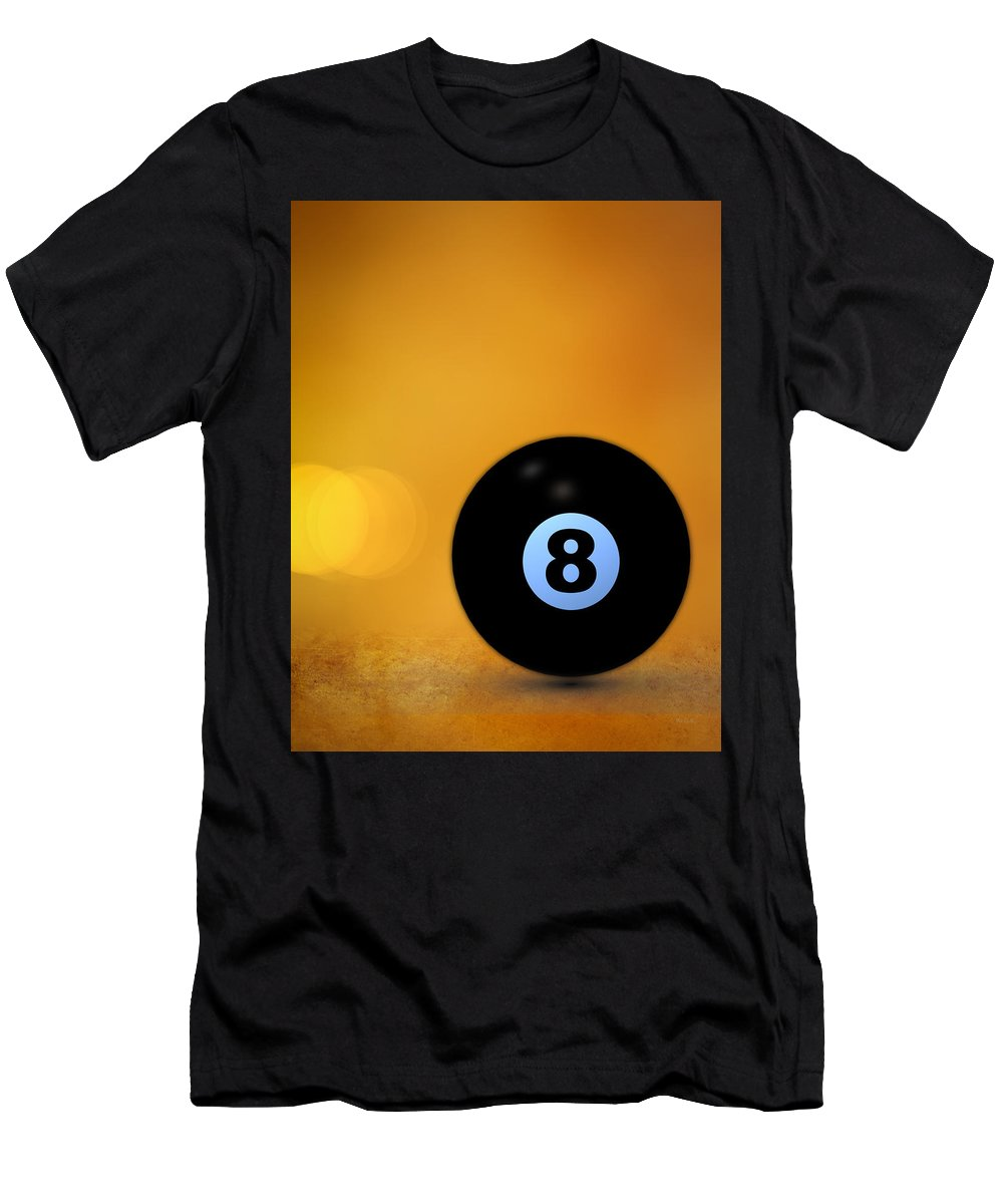 8 Ball Men's T-Shirt (Athletic Fit) featuring the photograph 8 Ball by Bob Orsillo