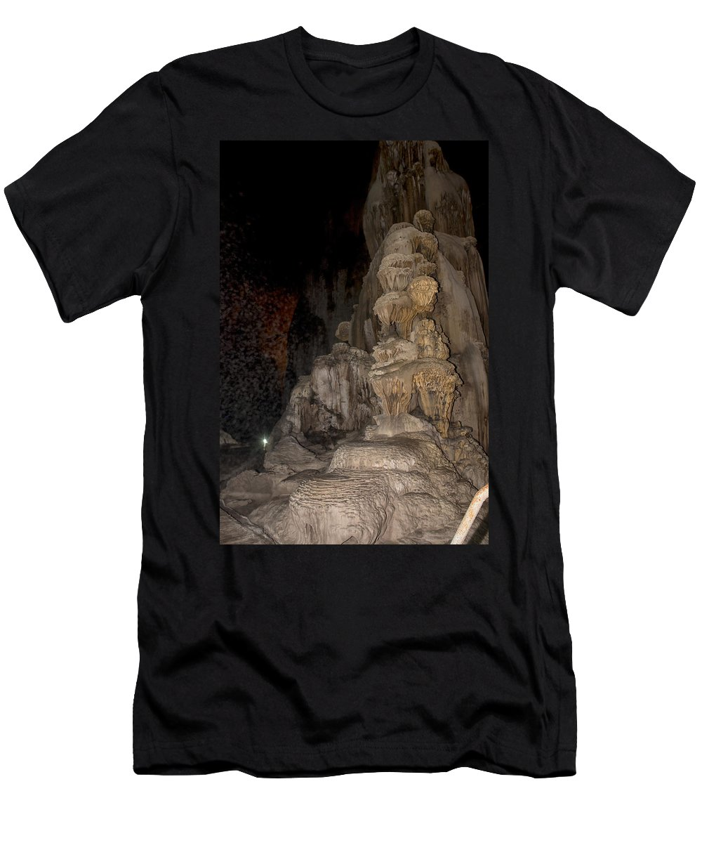 Caverns Men's T-Shirt (Athletic Fit) featuring the digital art Grutas De Cacahuamilpa by Carol Ailles