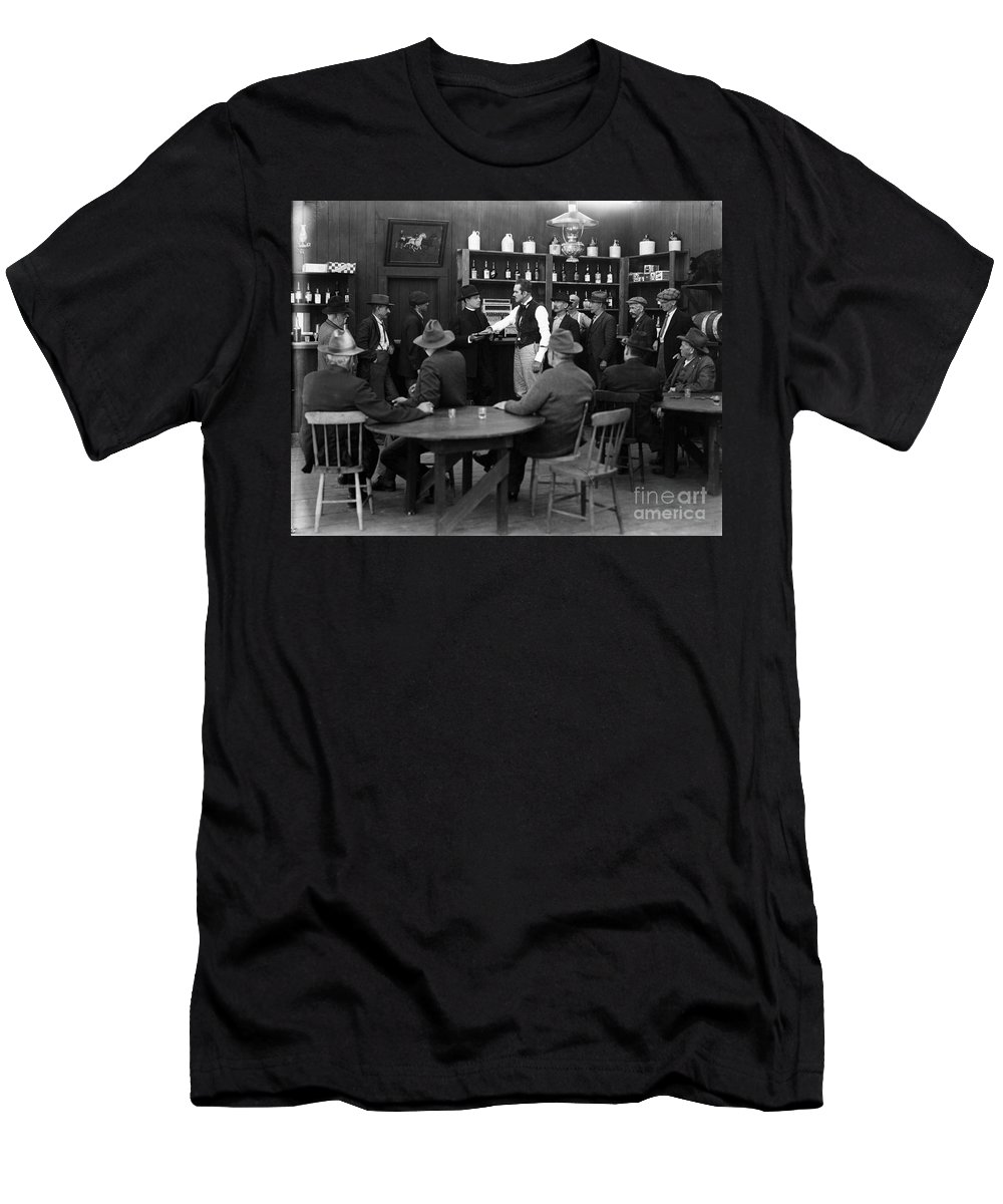 1920s Men's T-Shirt (Athletic Fit) featuring the photograph Silent Film Still: Drinking by Granger