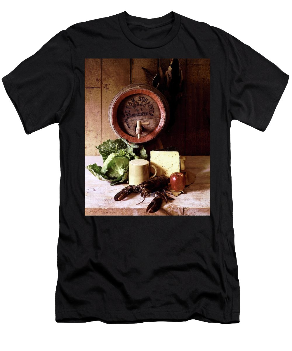 Nobody Men's T-Shirt (Athletic Fit) featuring the photograph A Barrel Of Beer by N. Courtney Owen