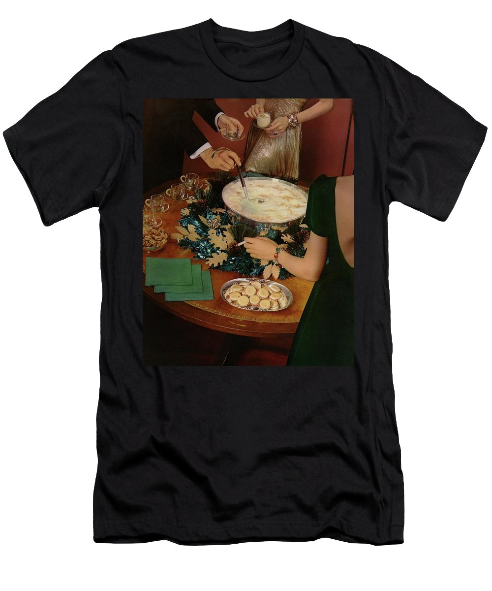 Interior T-Shirt featuring the photograph A Bowl Of Eggnog by Anton Bruehl