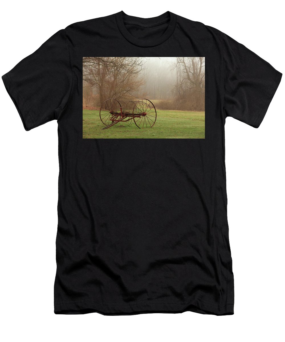 Country Men's T-Shirt (Athletic Fit) featuring the photograph A Country Scene by Karol Livote
