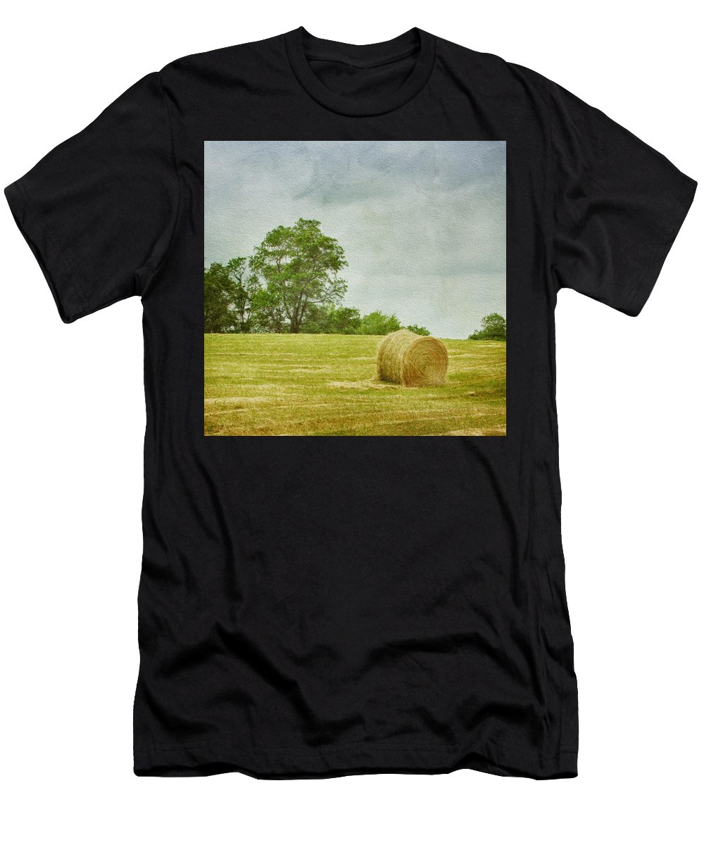Agricultural Men's T-Shirt (Athletic Fit) featuring the photograph A Day At The Farm by Kim Hojnacki