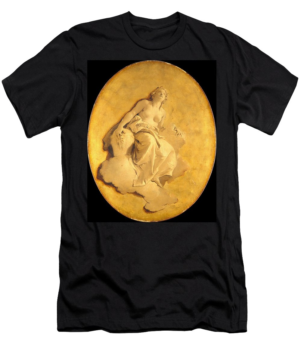 Giovanni Battista Tiepolo Men's T-Shirt (Athletic Fit) featuring the painting A Female Allegorical Figure by Giovanni Battista Tiepolo