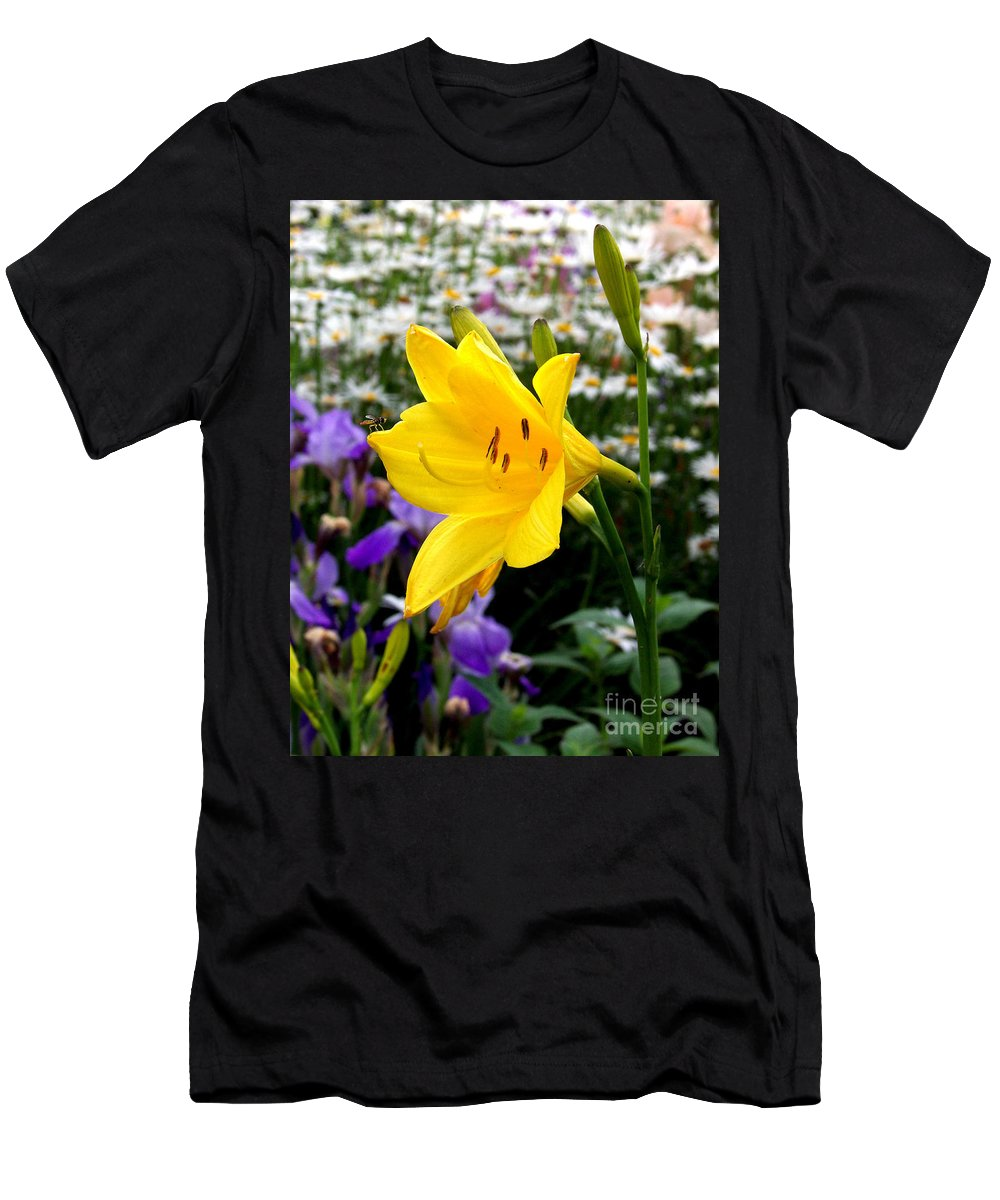 Lily Men's T-Shirt (Athletic Fit) featuring the photograph A Fly In The Ointment by Kathy McClure