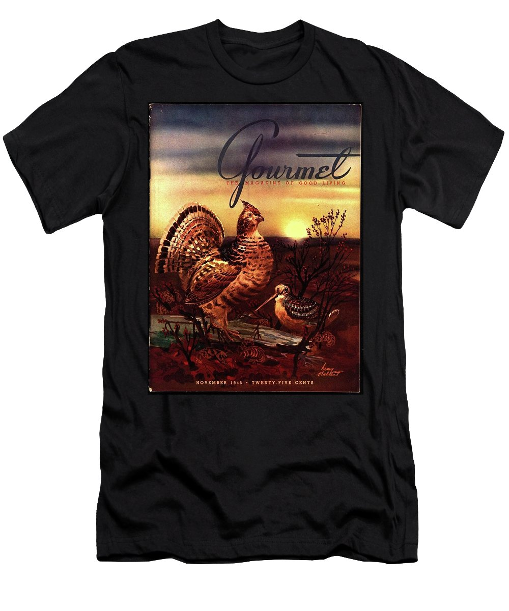 Illustration T-Shirt featuring the photograph A Gourmet Cover Of A Turkey by Henry Stahlhut