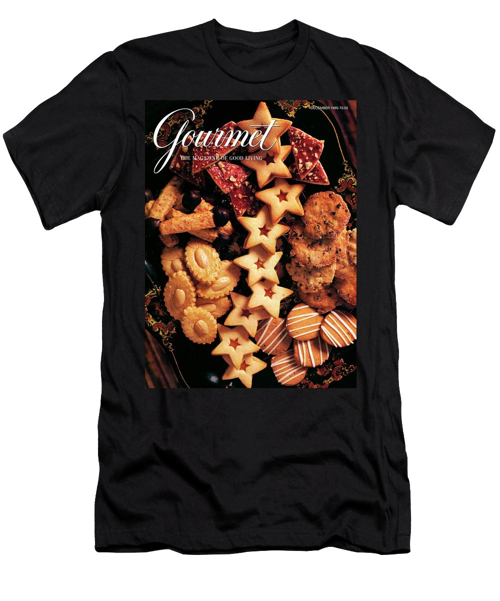 Holiday Men's T-Shirt (Athletic Fit) featuring the photograph A Gourmet Cover Of Butter Cookies by Romulo Yanes