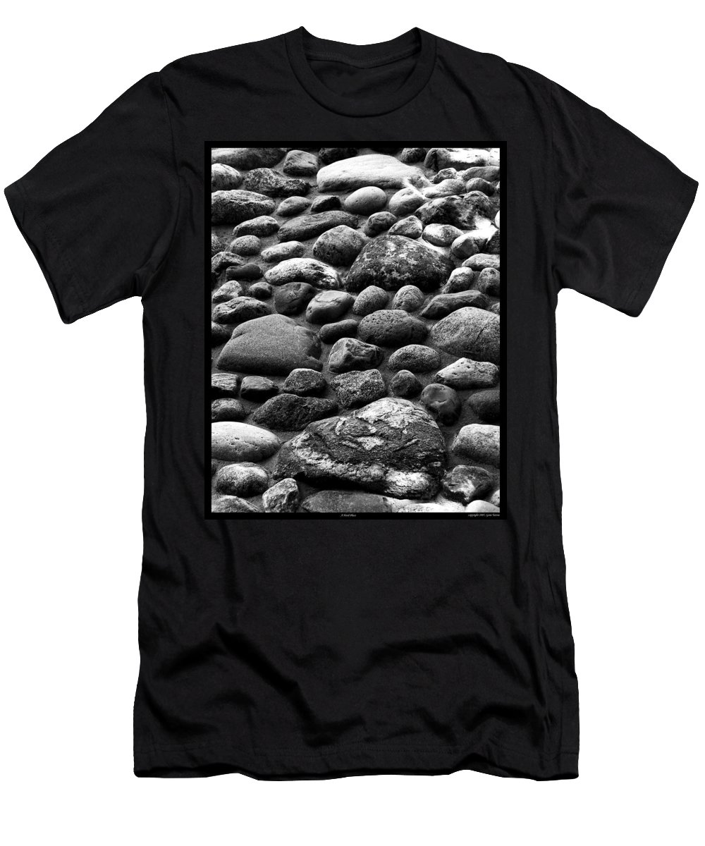 Hard Men's T-Shirt (Athletic Fit) featuring the photograph A Hard Place by Gene Tatroe