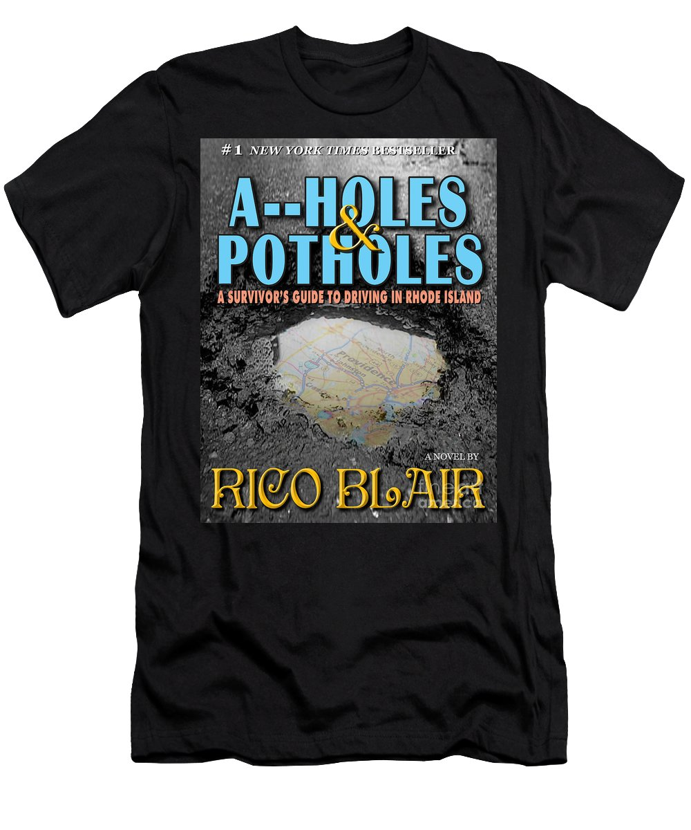 Rhode Island Men's T-Shirt (Athletic Fit) featuring the photograph A--holes And Potholes Book Cover by Mike Nellums