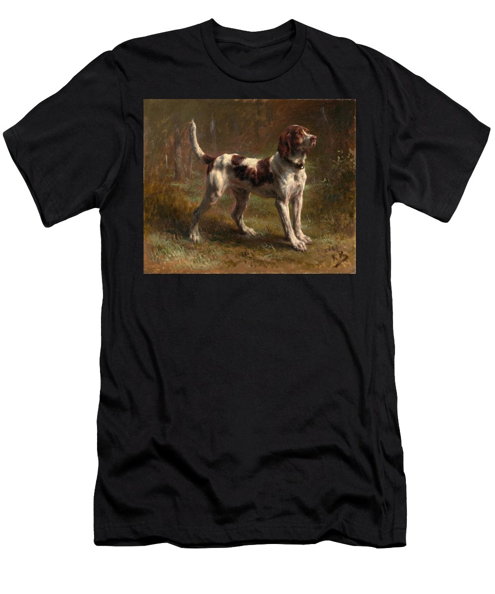 Rosa Bonheur Men's T-Shirt (Athletic Fit) featuring the painting A Limier Briquet Hound by Rosa Bonheur