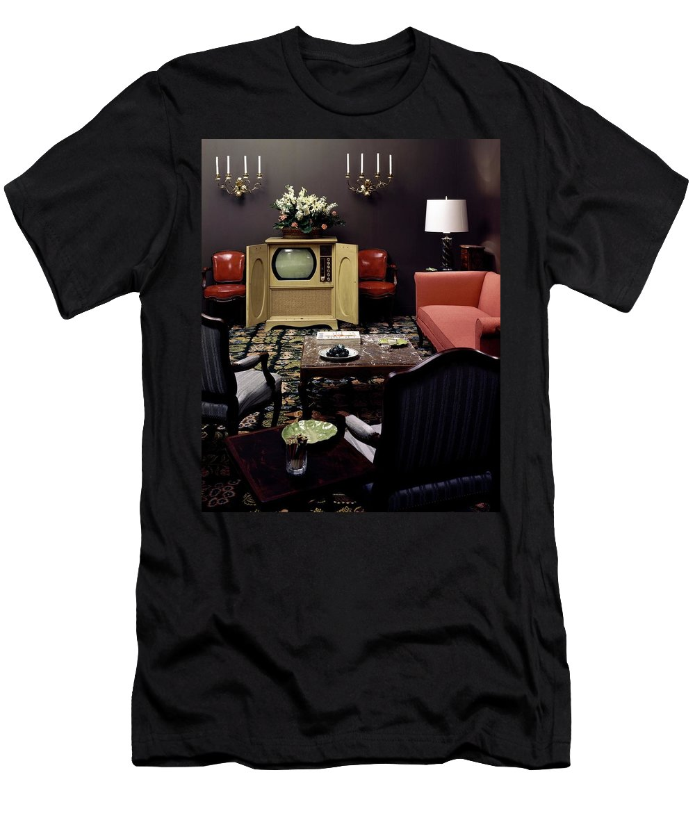 Furniture T-Shirt featuring the photograph A Living Room by Haanel Cassidy
