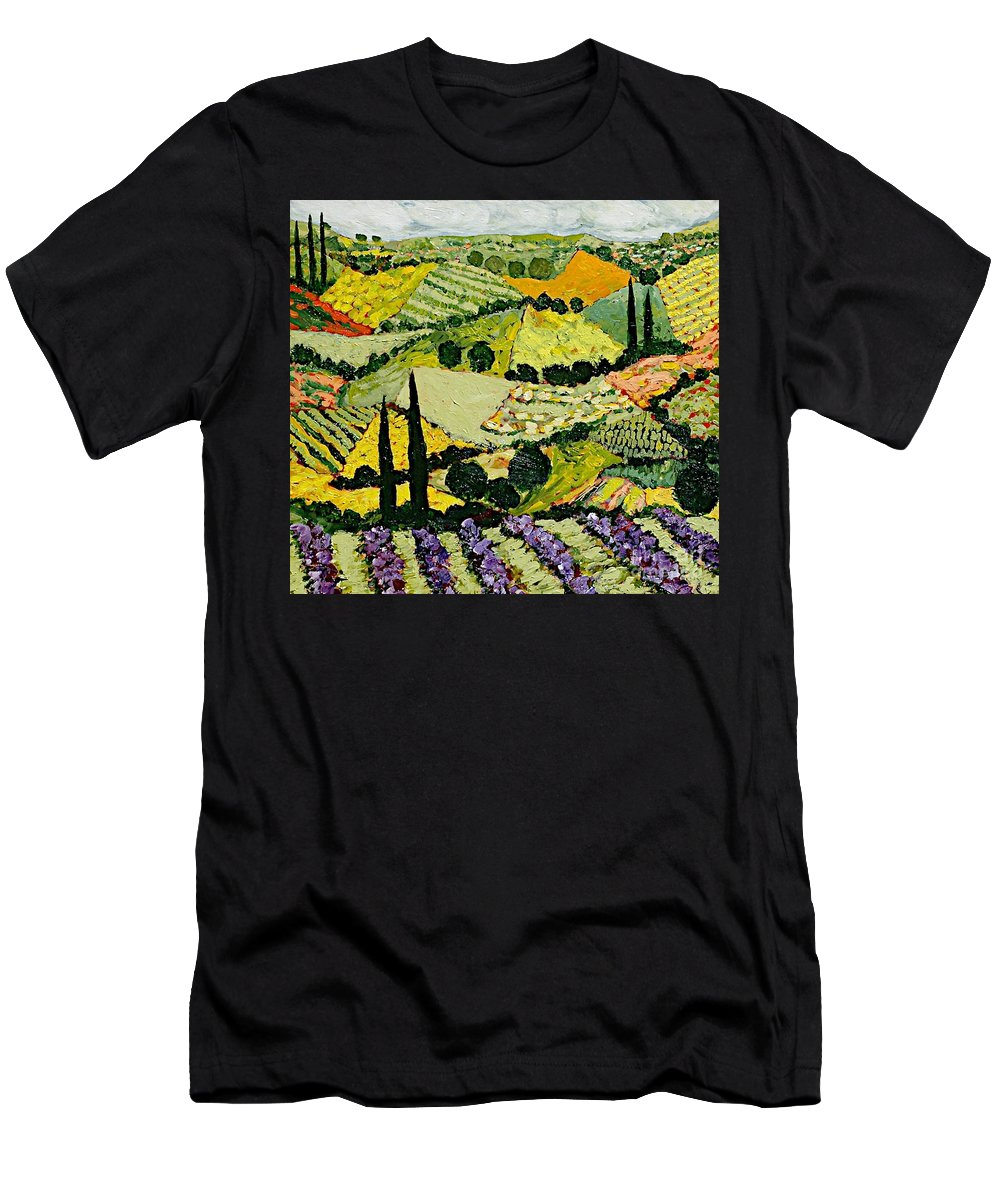 Landscape Men's T-Shirt (Athletic Fit) featuring the painting A New Season by Allan P Friedlander