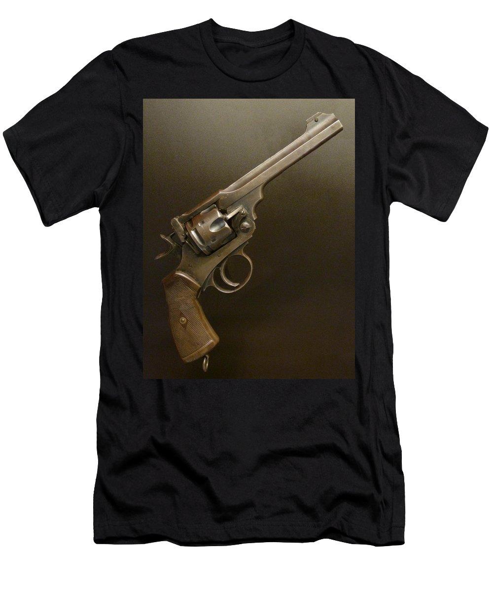 Nz Men's T-Shirt (Athletic Fit) featuring the photograph A Pilot's Pistol by Steve Taylor