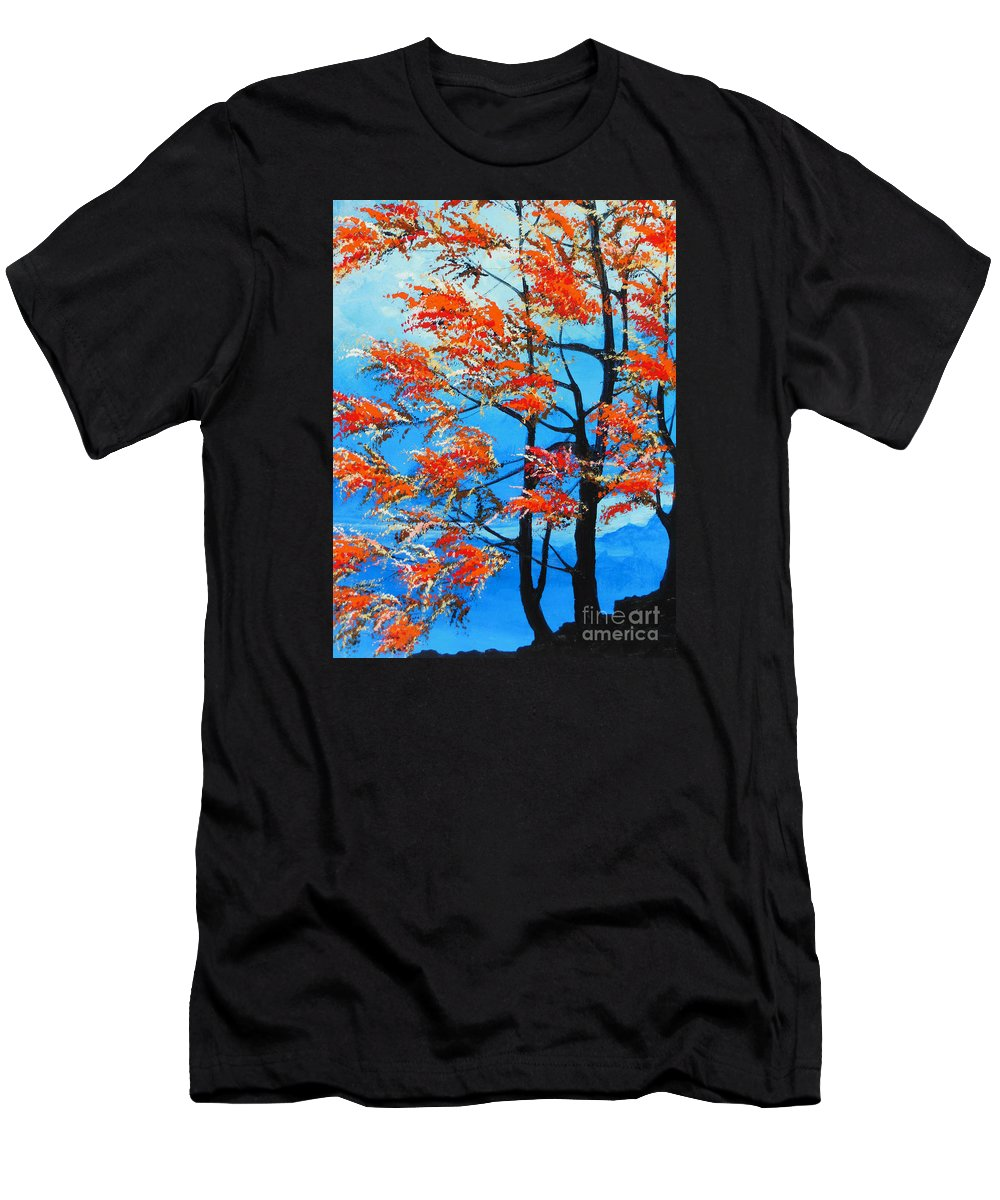 Forest Men's T-Shirt (Athletic Fit) featuring the painting A Place To Get Away by Dan Whittemore