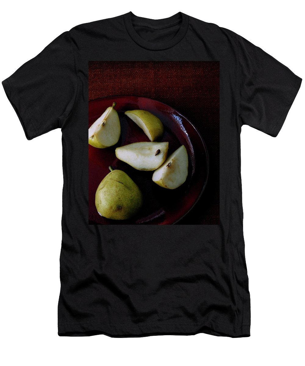 Pear Men's T-Shirt (Athletic Fit) featuring the photograph A Plate Of Pears by Romulo Yanes