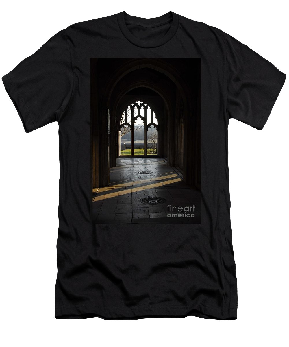 Beams Of Light Men's T-Shirt (Athletic Fit) featuring the photograph A Ray Of Hope by Cindy Manero