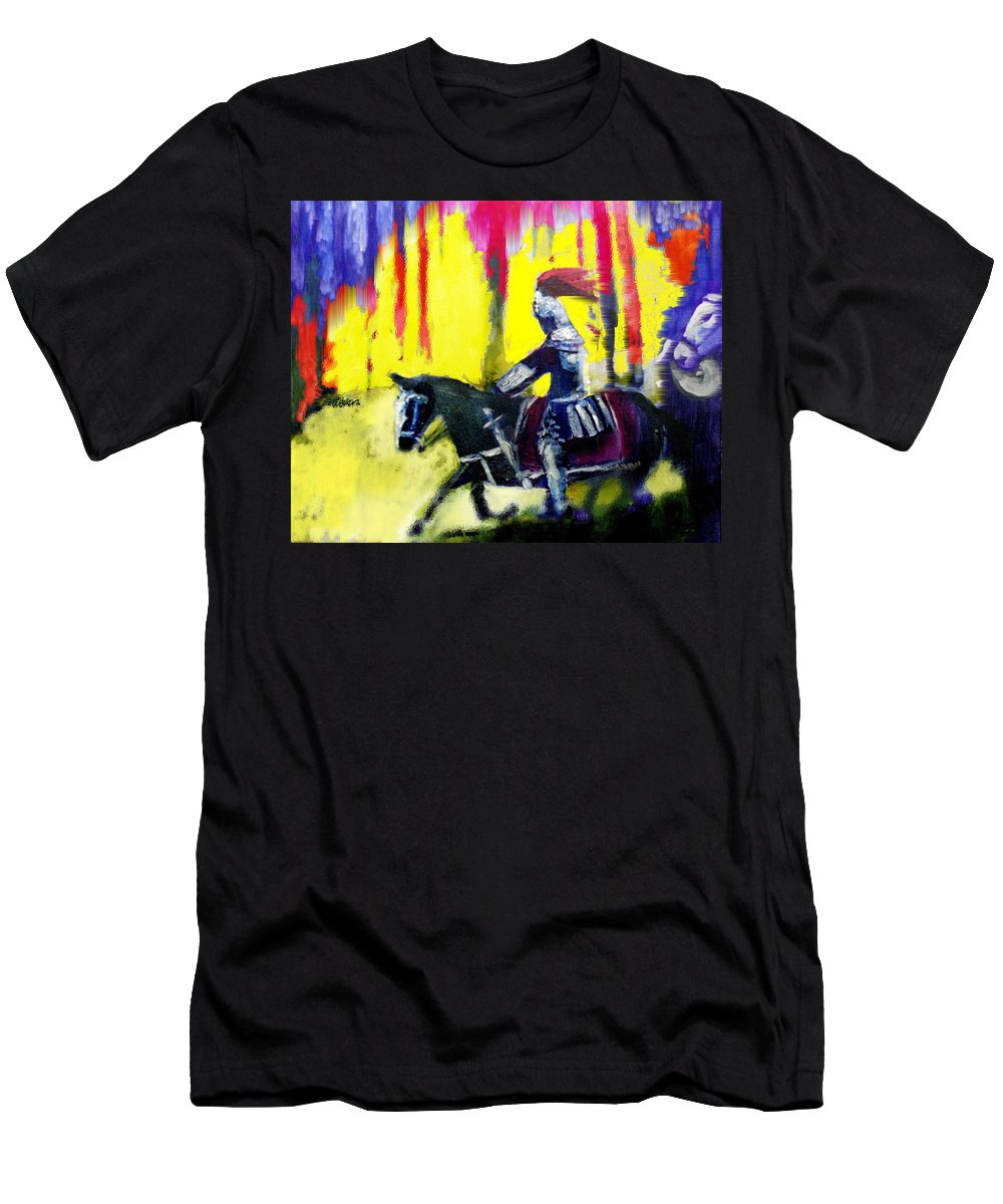 Gladiator Men's T-Shirt (Athletic Fit) featuring the painting A Ride Through Fire by Seth Weaver