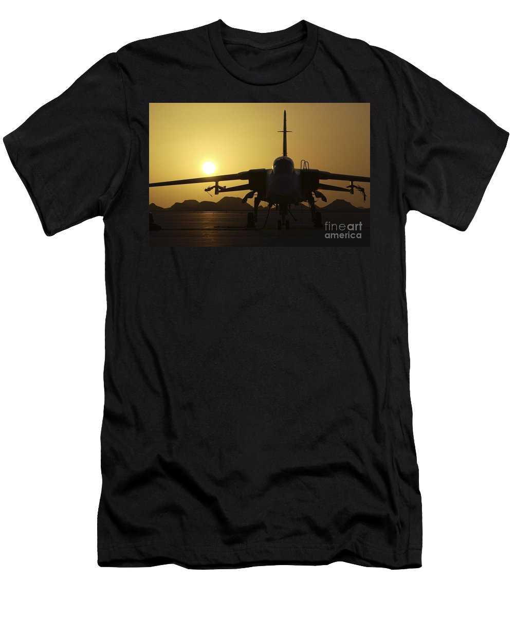 Exercise Magic Carpet 2005 Men's T-Shirt (Athletic Fit) featuring the photograph A Royal Air Force Tornado F3 by Paul Fearn