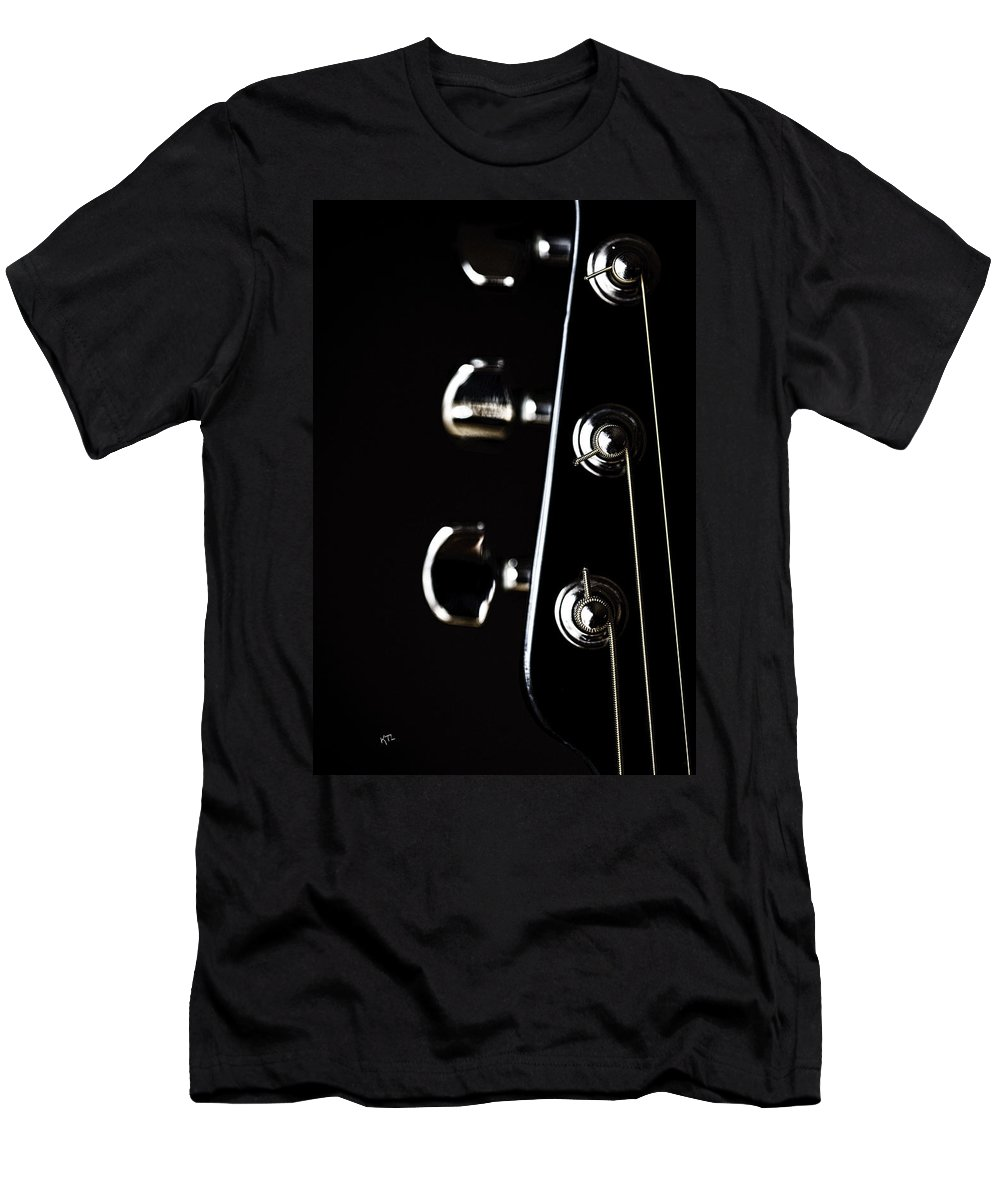 Guitar Men's T-Shirt (Athletic Fit) featuring the photograph A Sense Of Tune by Karol Livote
