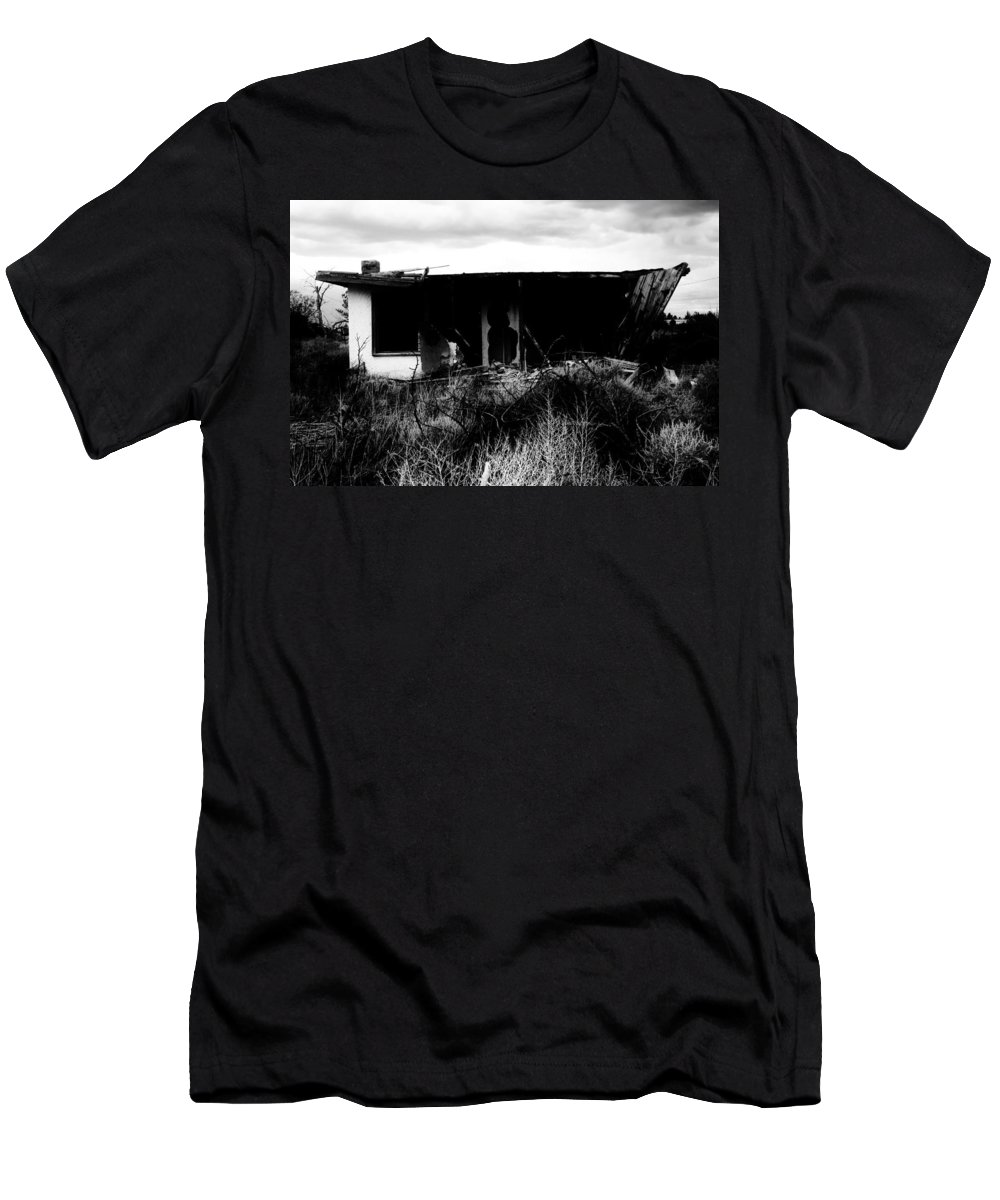 Black Men's T-Shirt (Athletic Fit) featuring the photograph A Story Ends by Jessica Shelton