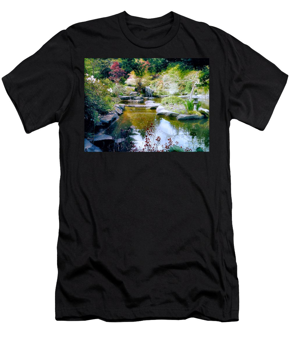 Landscape Men's T-Shirt (Athletic Fit) featuring the photograph A Taste Of Paradise by Rory Sagner