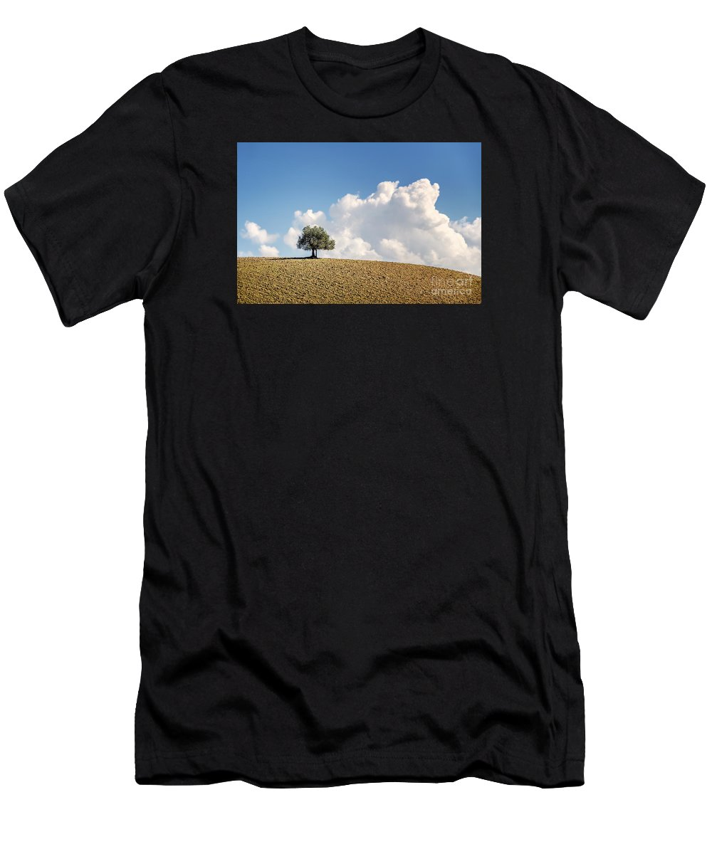 Landscape Men's T-Shirt (Athletic Fit) featuring the photograph A Tree by Giuliano Iunco
