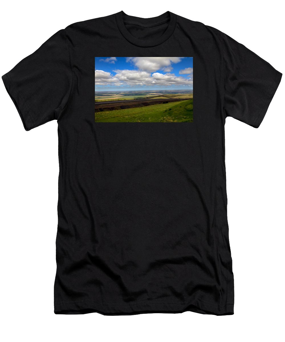 Pendleton Men's T-Shirt (Athletic Fit) featuring the photograph A View From Cabbage Hill by Robert Bales