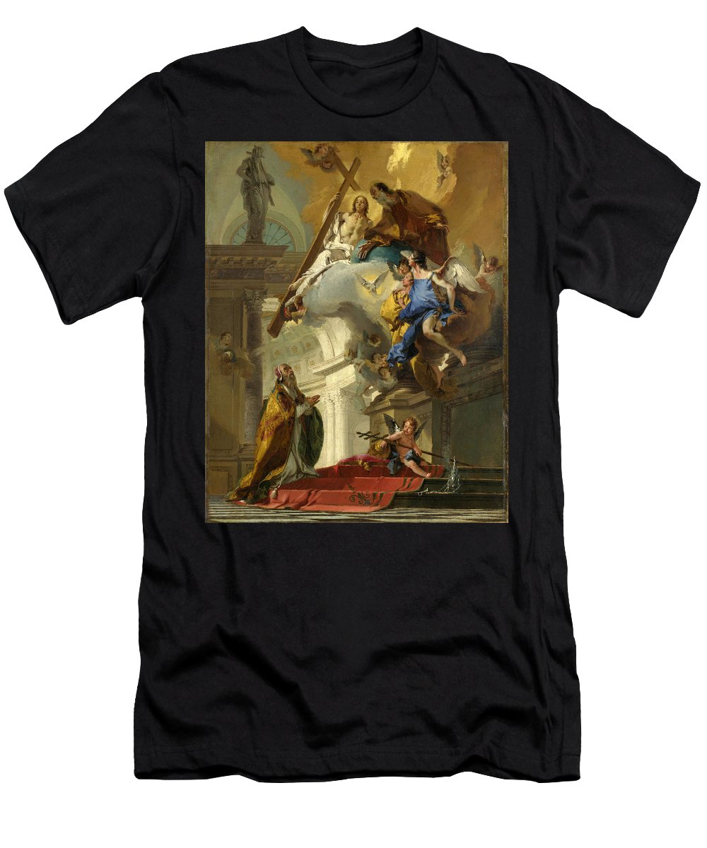 Giovanni Battista Tiepolo Men's T-Shirt (Athletic Fit) featuring the painting A Vision Of The Trinity by Giovanni Battista Tiepolo