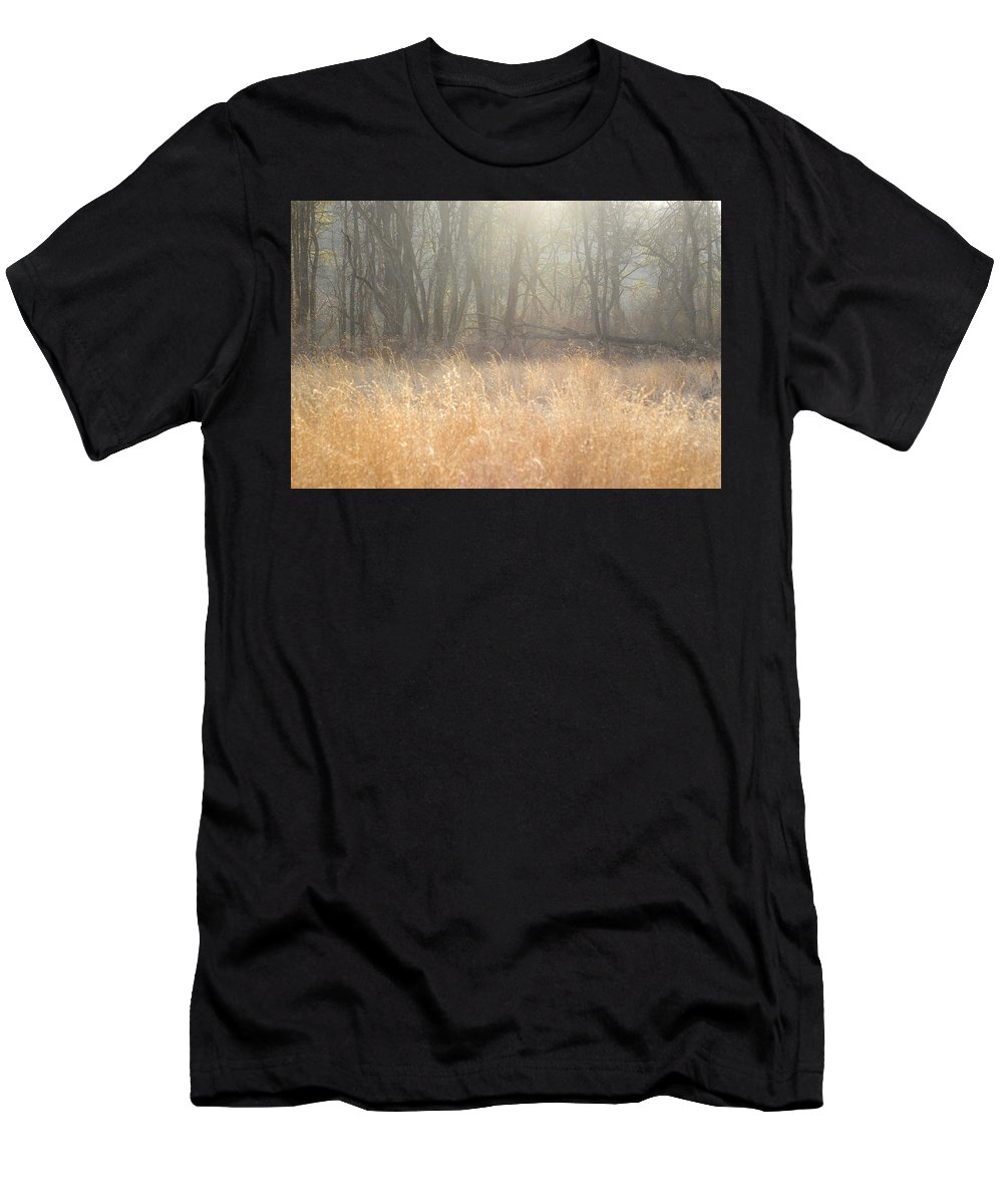 Landscape Men's T-Shirt (Athletic Fit) featuring the photograph A Winter Glow by Samantha Eisenhauer