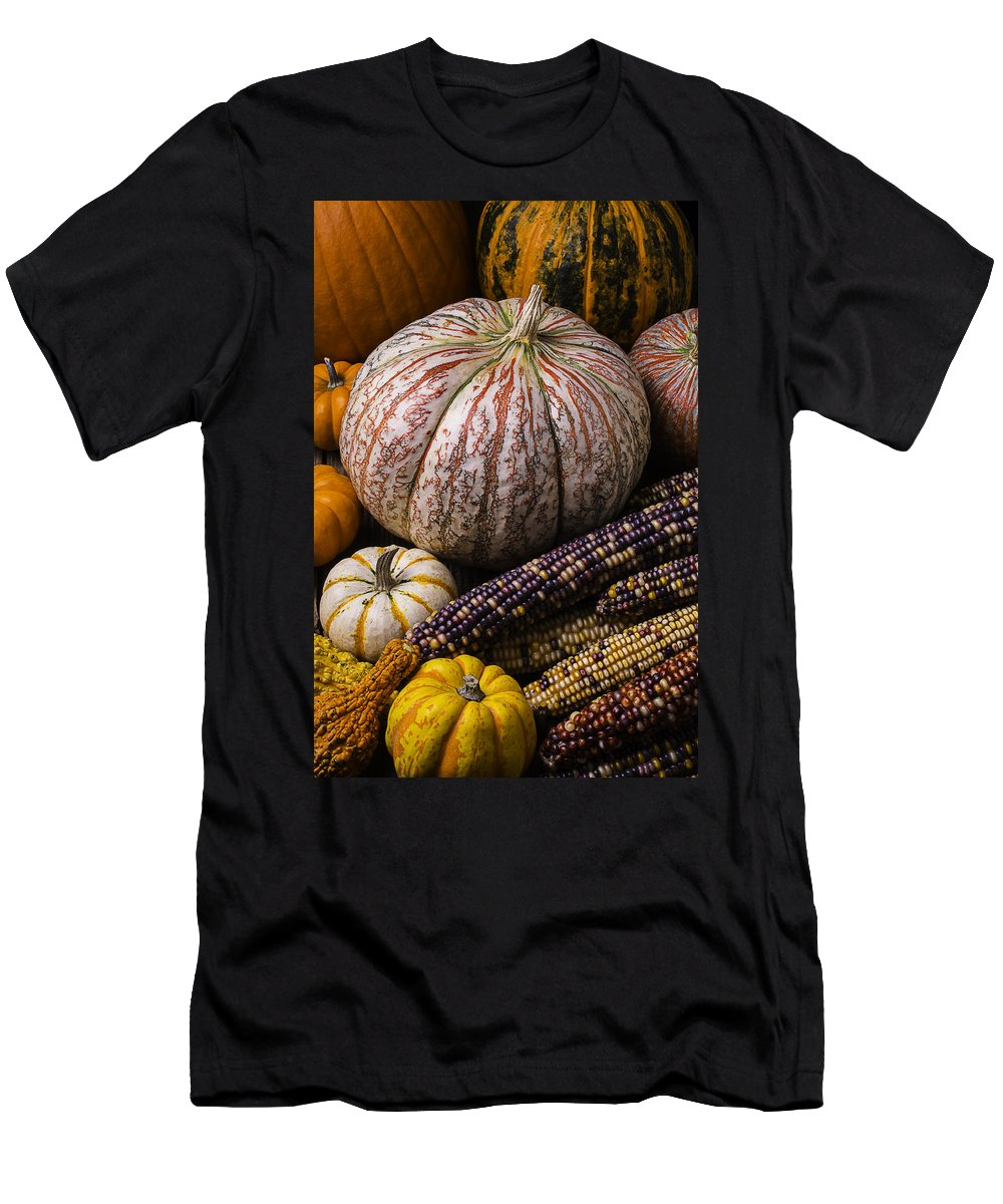 Colorful Men's T-Shirt (Athletic Fit) featuring the photograph A Wonderful Autumn Harvest by Garry Gay