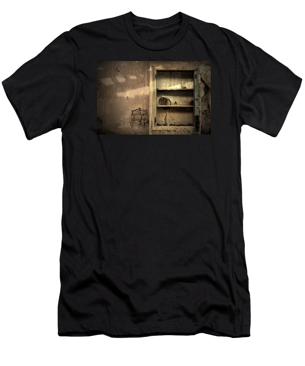 Abandoned Men's T-Shirt (Athletic Fit) featuring the photograph Abandoned Kitchen Cabinet by RicardMN Photography
