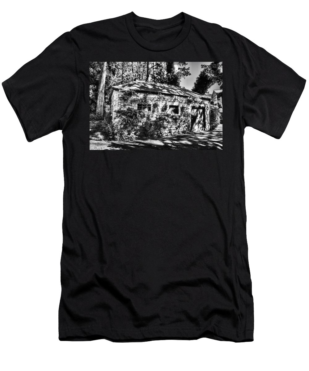 Abandoned Men's T-Shirt (Athletic Fit) featuring the photograph Abandoned Mono by Steve Purnell
