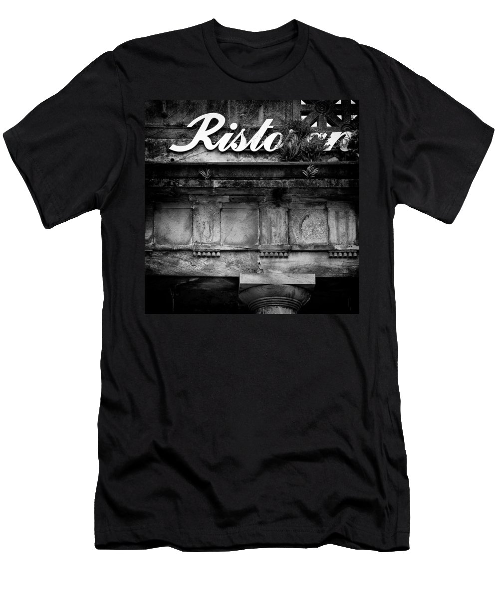Abandoned Restaurant Men's T-Shirt (Athletic Fit) featuring the photograph Abandoned Restaurant by Dave Bowman