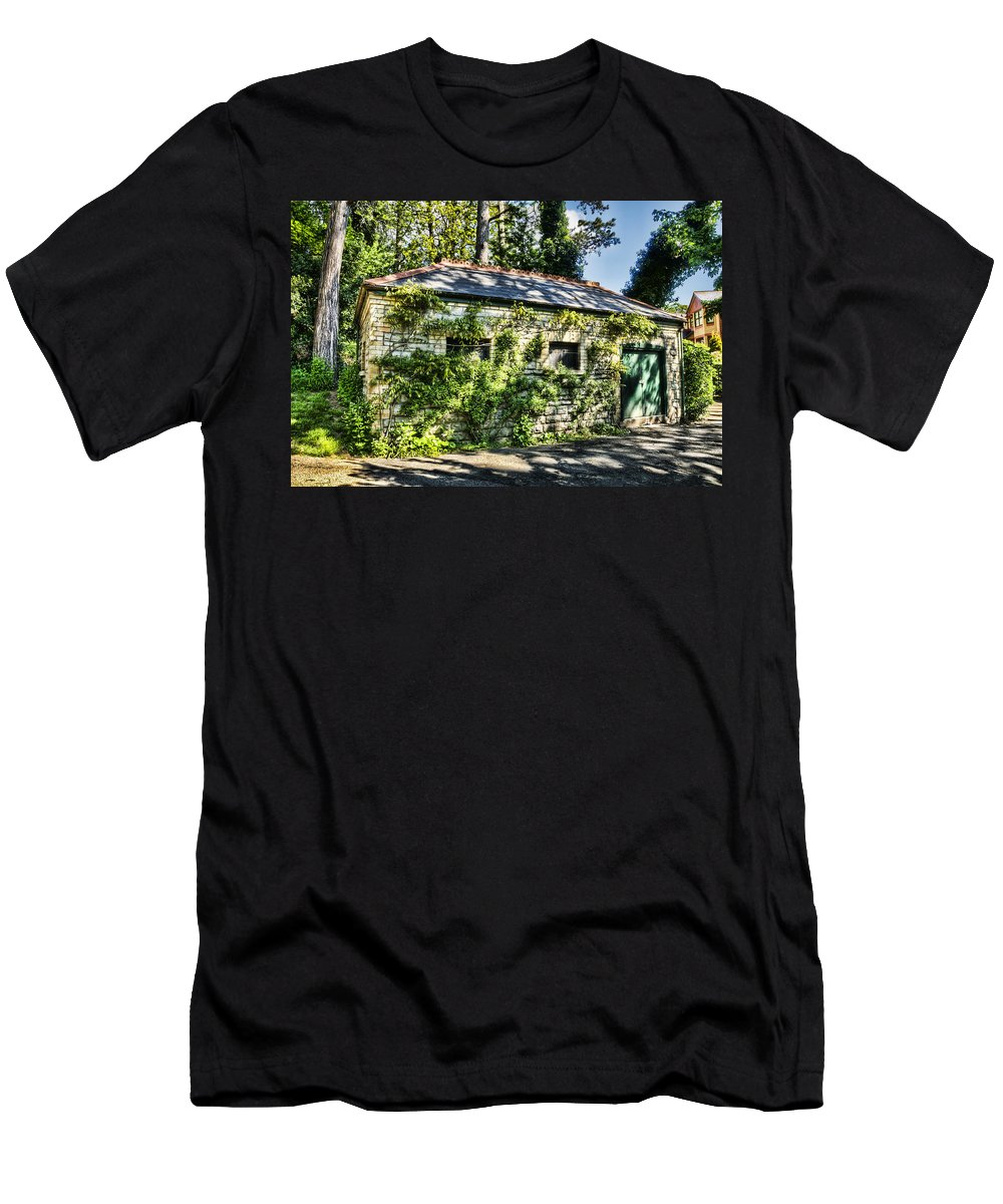 Abandoned Men's T-Shirt (Athletic Fit) featuring the photograph Abandoned by Steve Purnell