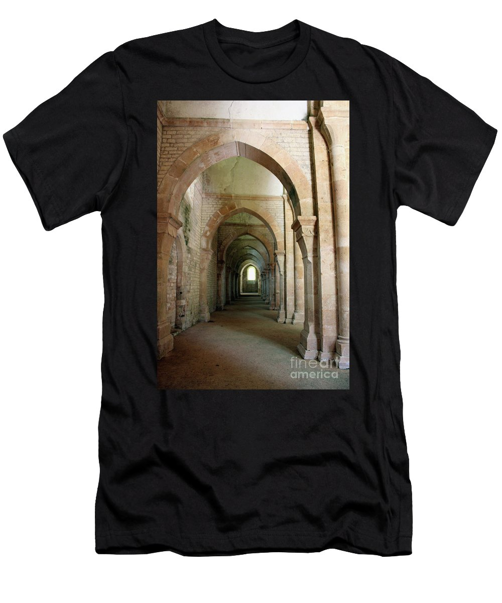 Abbey Men's T-Shirt (Athletic Fit) featuring the photograph Abbey Fontenay I by Christiane Schulze Art And Photography
