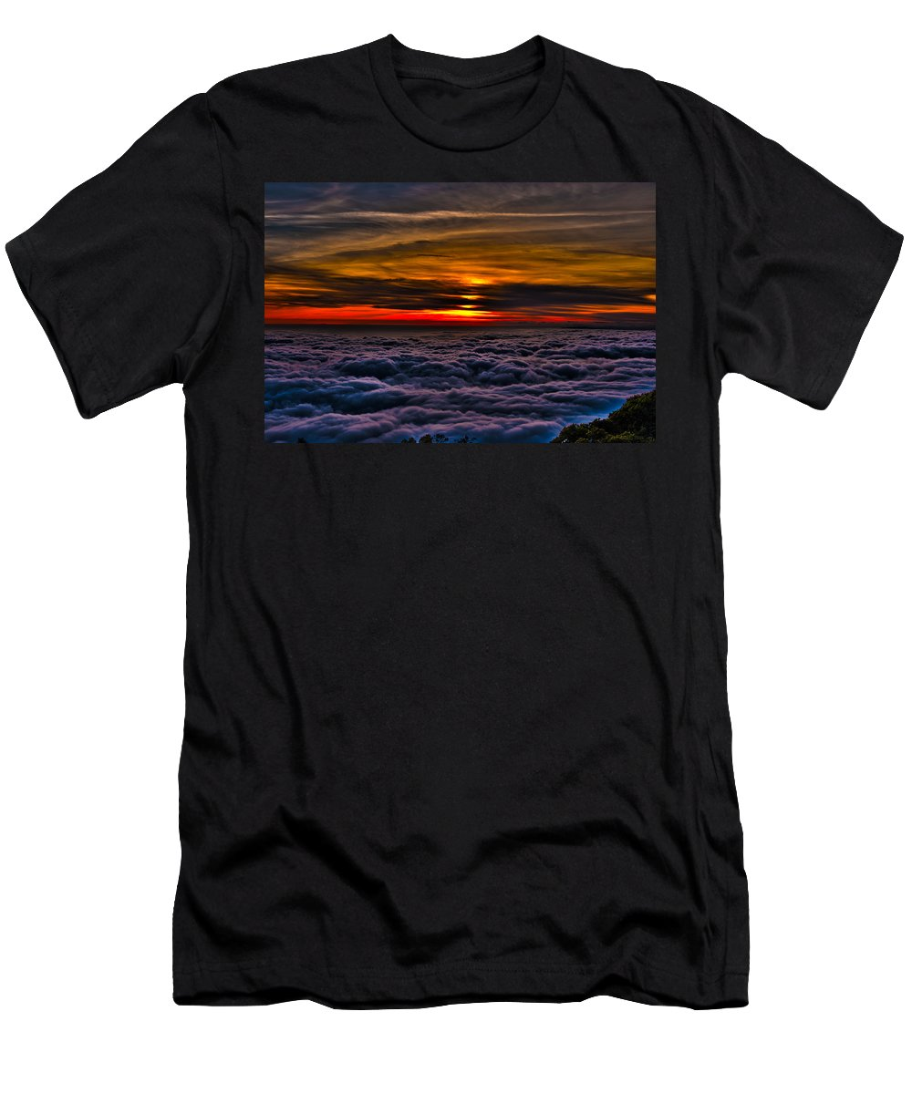 Mt Wilson Men's T-Shirt (Athletic Fit) featuring the photograph Above The Marine Layer by Richard J Cassato