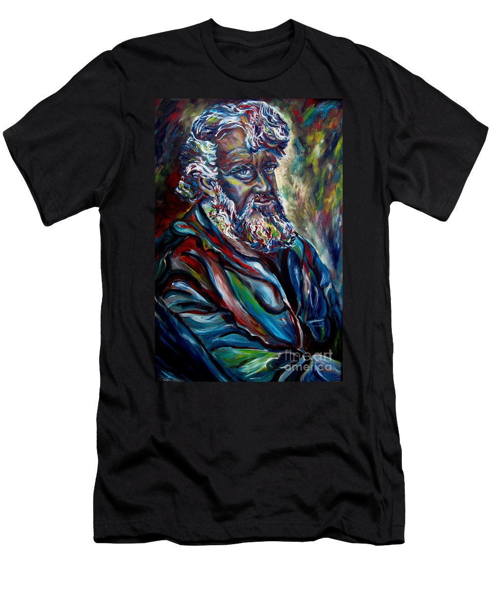 Abraham Patriarh Men's T-Shirt (Athletic Fit) featuring the painting Abraham Patriarch by Carole Spandau